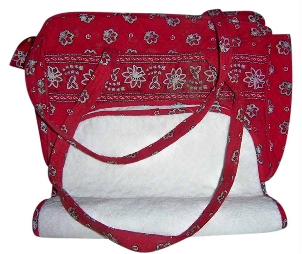 vera bradley red bandanna diaper bag red 57 off tradesy. Black Bedroom Furniture Sets. Home Design Ideas