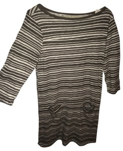 Gap short dress Gray & White Stripe on Tradesy