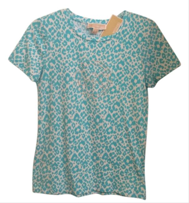 Preload https://item1.tradesy.com/images/michael-kors-turquoise-and-white-t-t-shirt-5473090-0-0.jpg?width=400&height=650