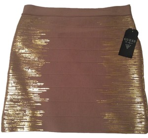 Guess Mini Skirt Tan with gold side design