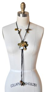 Nut Shell Carved Bolo Necklace