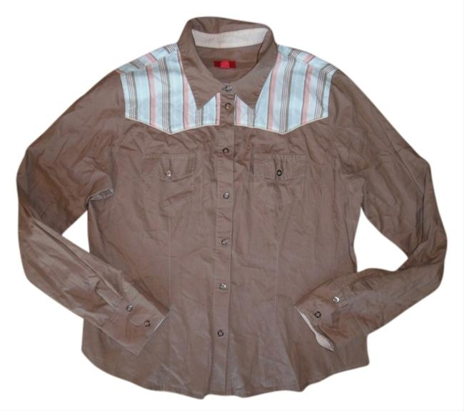 Mossimo Supply Co. Southwest Cowgirl Cowboy Button Down Shirt Beige, Mint Green, Ivory, Peach