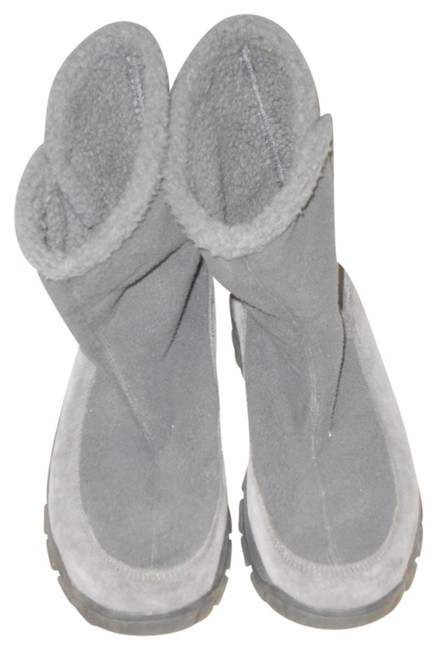 Item - Gray Boots/Booties Size US 9.5