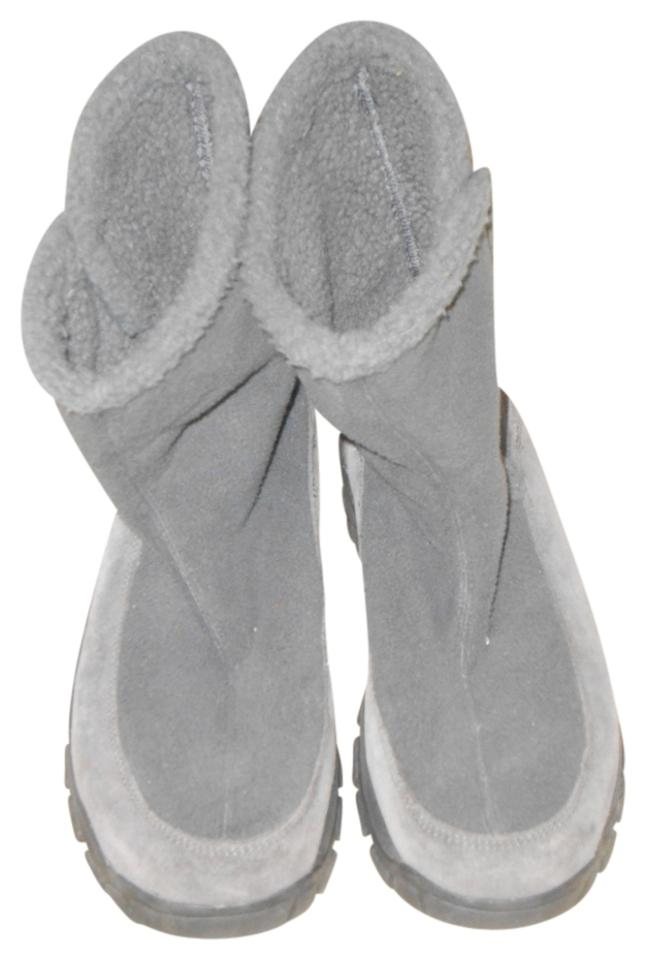 LADY New Lands' End Gray Boots/Booties New LADY design 352942