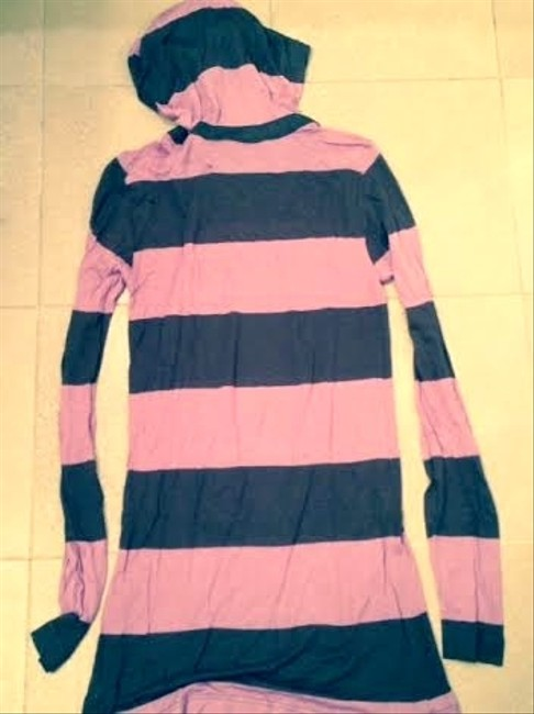 Roxywear short dress Purple/brown Hooded Striped on Tradesy