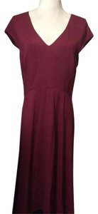 Ann Taylor short dress maroon on Tradesy