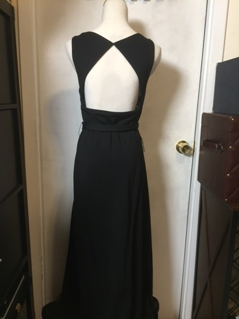 Black Maxi Dress by Ann Taylor Sleeveless Open Maxi