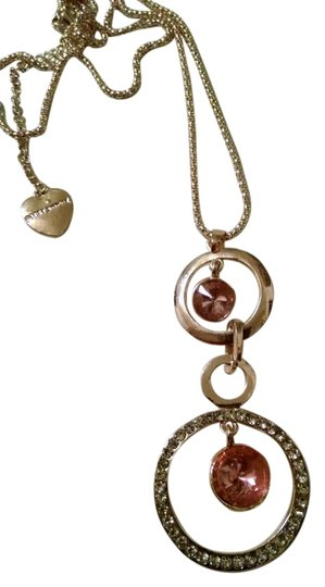 Preload https://item4.tradesy.com/images/betsey-johnson-gold-pink-new-connected-circles-tone-j1226-necklace-5473663-0-1.jpg?width=440&height=440