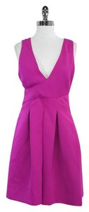 Halston short dress Deep Fuchsia Sleeveless Bell on Tradesy