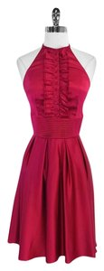 Catherine Malandrino short dress Fuschia Silk Halter on Tradesy