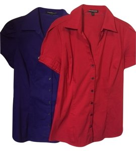 Express Button Down Shirt red/purple