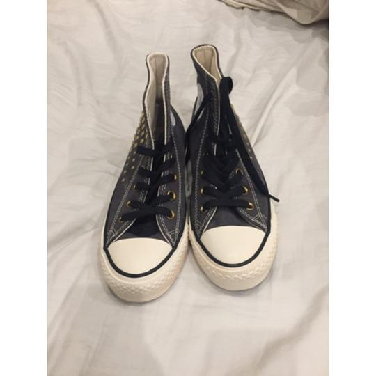 Converse Grey with Gold Studs Athletic
