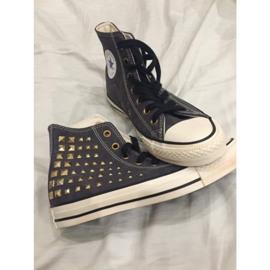 Converse Studded Grey with Gold Studs Athletic