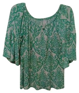 Hippiechic Hippies Top green,whiite