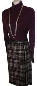 St. John Santana Knit Tweed Skirt Purple