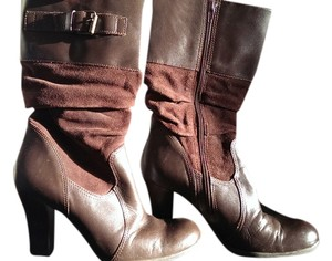 Connie Leather Upper Brown Boots