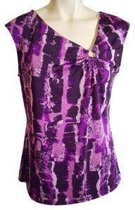 Dana Buchman Top purple & lavender