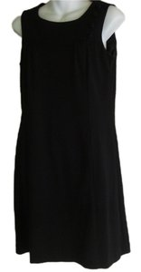 Trina Turk short dress black Sleeveless Empire Waist Wool on Tradesy