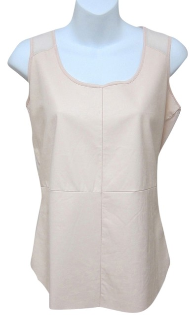 Preload https://item2.tradesy.com/images/saks-fifth-avenue-blush-pink-new-faux-leather-panel-tank-topcami-size-2-xs-5474656-0-3.jpg?width=400&height=650