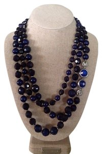New York & Company 3 strand navy and silver statement