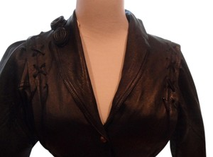 AMALETI BLACK Leather Jacket