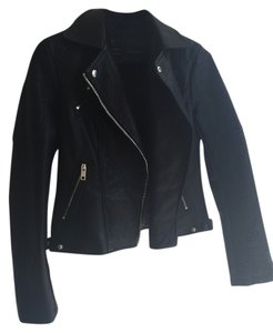 Zara Faux Leather Leather Jacket