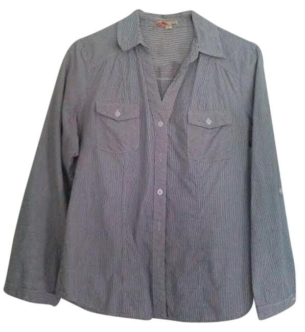 Forever 21 Button Down Shirt Gray