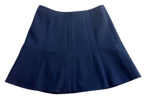 J.Crew Fluted Mini Skirt Navy