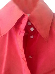 Magaschoni Shirt Top Burnt Orange Sheen