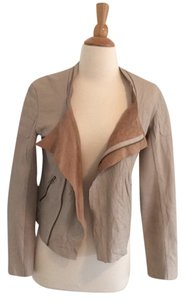 LAmade Beige Leather Jacket