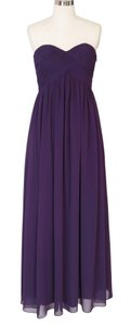 Purple Chiffon Strapless Sweetheart Long Size:[4] Formal Bridesmaid/Mob Dress Size 4 (S)