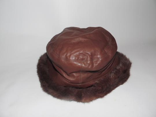 Wilsons Leather Authentic Wilsons Leather Hat with Real Rabbit Fur Trim Size L/XL