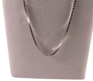 14K Solid White Gold Box Chain 16 Inches