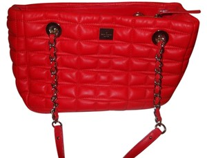 Kate Spade Quilted Red Leather Shoulder Bag