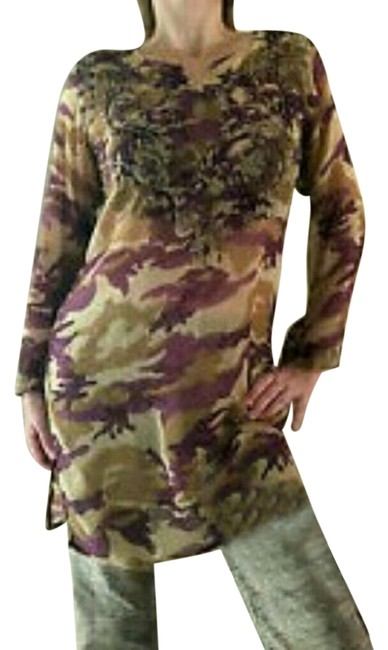 Preload https://item5.tradesy.com/images/raj-tunic-olive-and-purple-camouflage-print-5477164-0-2.jpg?width=400&height=650
