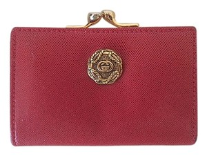 Gucci Gucci Authentic Antique Red Leather Coin Purse 1960s