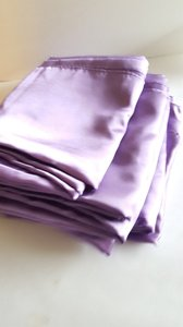 6 Lilac Purple Satin Overlays 72