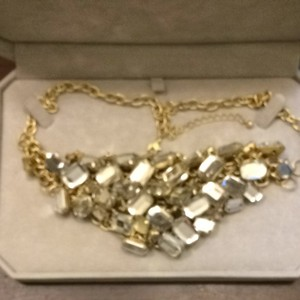 Banana Republic Stunning Faux Diamond Necklace