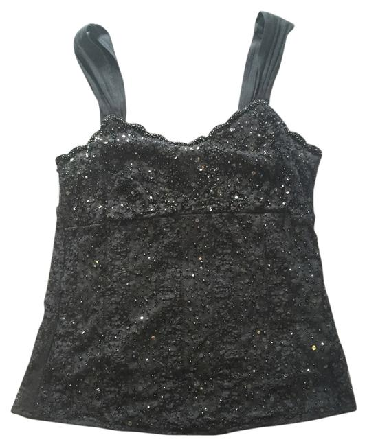 Ann Taylor Girls Date Holiday New Years Sexy With Jeans Club Top Black