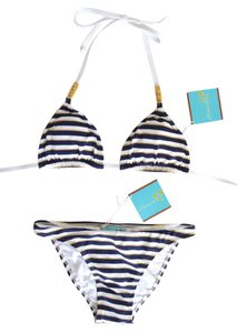 Letarte Swimwear Classic Nautical Striped Bikini