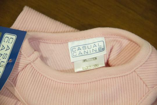 Casual Canine Little dog ribbed pink tank top