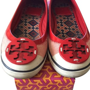 Tory Burch Cherry Red Flats