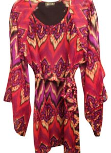 Maude short dress coral purple Boho Ikat Vibrant Shift on Tradesy
