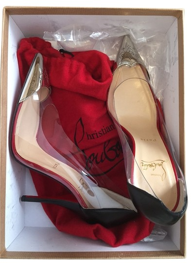 Christian Louboutin Clear and Silver Pumps