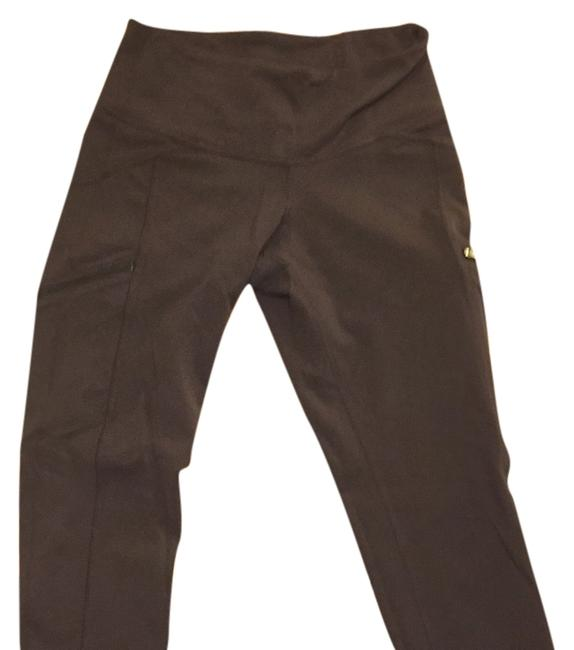 Item - Brown Tights Zippers Gently Used Activewear Bottoms Size 0 (XS, 25)
