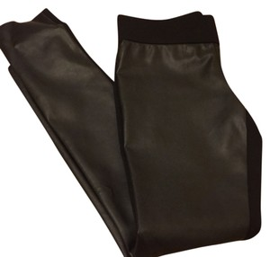 Club Monaco Black/leather Leggings