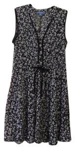 Simply Vera Vera Wang short dress Black and blue floral. on Tradesy