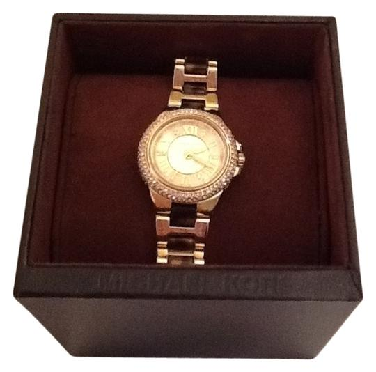 Michael Kors Petite Camille Embellished Tortoise Acetate And Gold-Tone Stainless Steel Watch STYLE #: MK4291