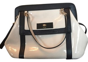 Kate Spade Patent Black Cream Shoulder Bag