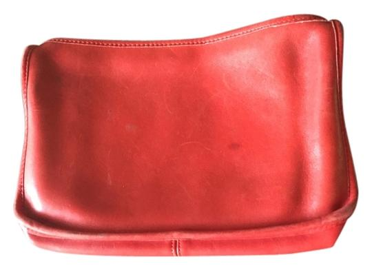 Coach Leather Leatherware Matching Wallet Outlets Retail Womens Girls Occasion Zipper Pockets Red Clutch